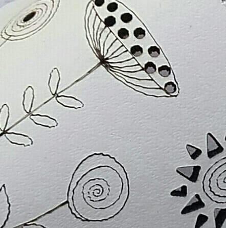 Blanco con flores